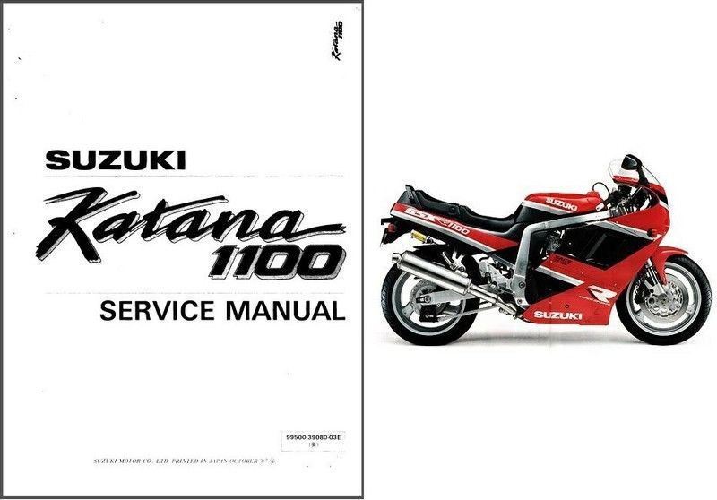 88-94 Suzuki GSX1100F Katana Service Repair Manual CD