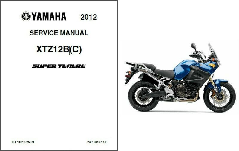 12-13 Yamaha XT1200Z Super Tenere Service Repair Manual CD