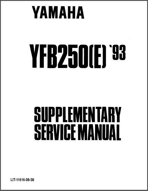 1992-1998 Yamaha YFB250 Timberwolf 250 ATV Service Repair
