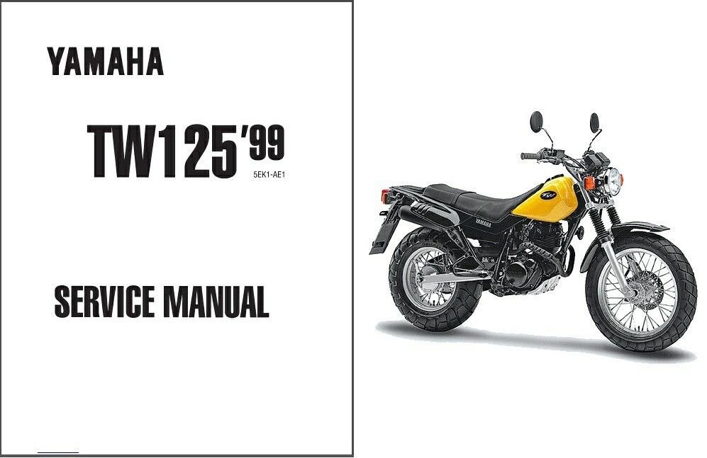 1999-2004 Yamaha TW125 Service Repair Workshop Manual CD