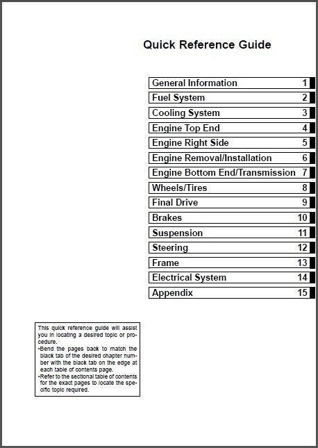 2001-2010 Kawasaki KX85 KX85-II KX100 Service Manual on a