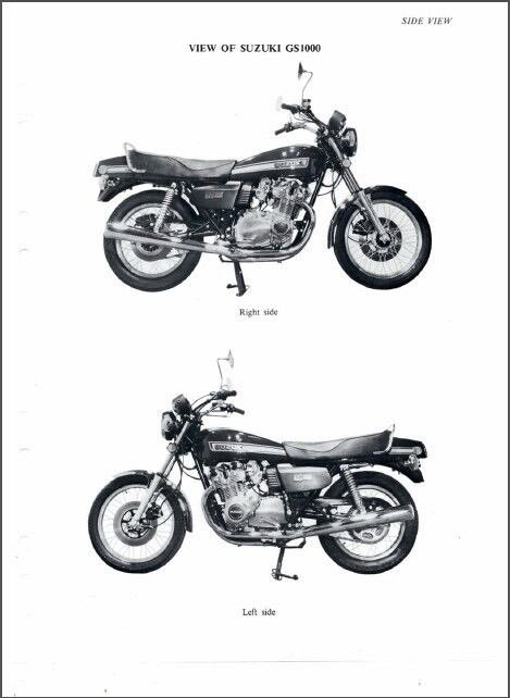 77-80 Suzuki GS1000 Service Repair Manual CD. GS 1000