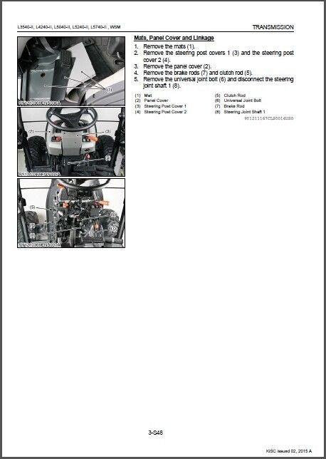 Kubota L3540-II L4240-II L5040-II L5240-II L5740-II (HST