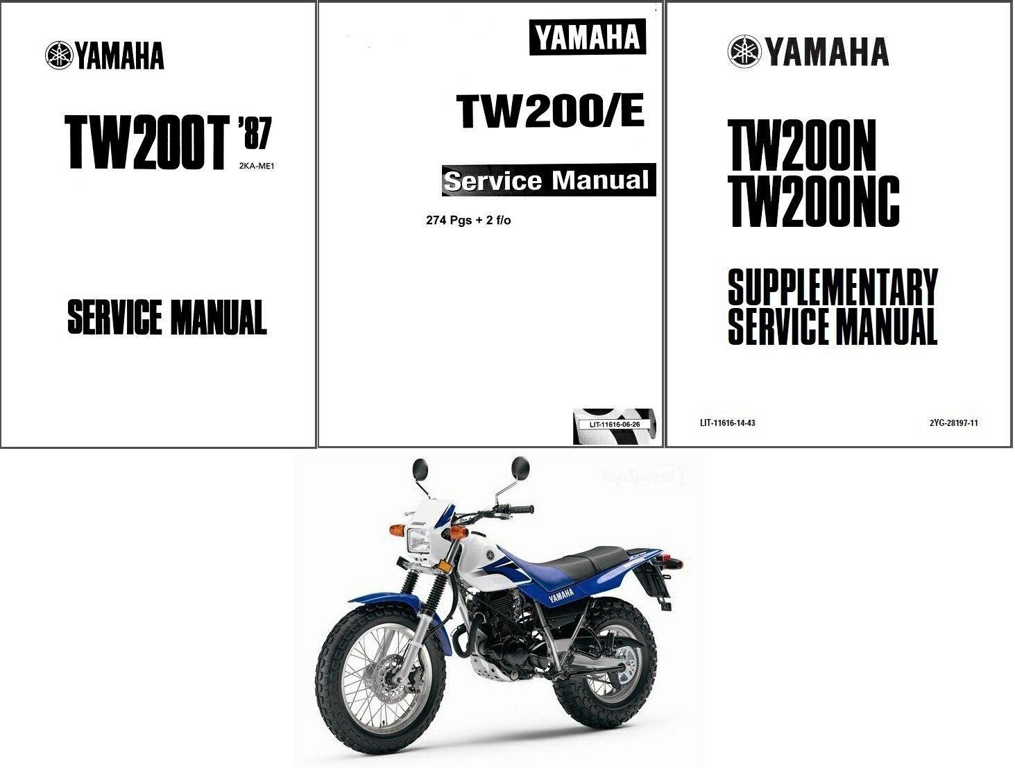 Yamaha Tw200 Service Repair Manual On A Cd Tw