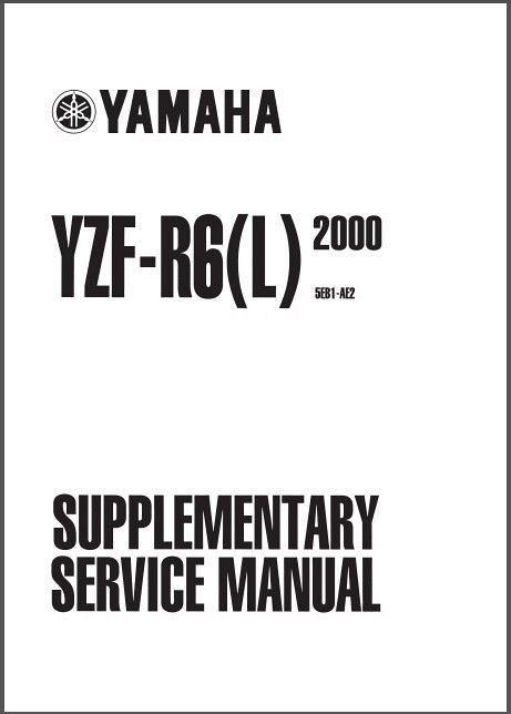 1999-2002 Yamaha YZF-R6 Service Repair Workshop Manual CD