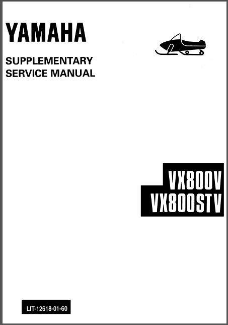 Yamaha V-Max 4 750 / 800 VX750/VX800 , MM800 Snowmobile
