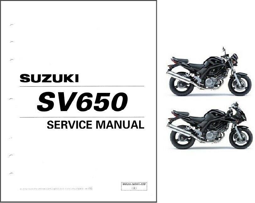 2003-04-05-06-07-08-2009 Suzuki SV650 / SV650S Service