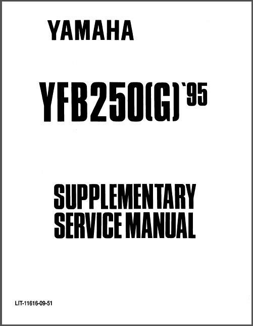 1992-1998 Yamaha YFB250 Timberwolf 250 ATV Service Repair