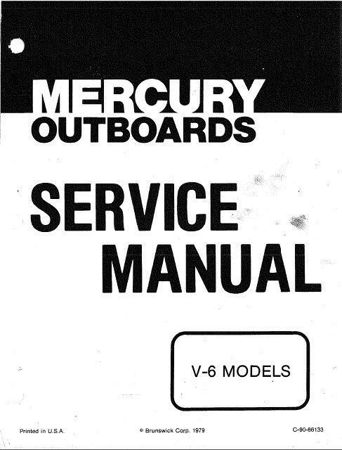 1976-1979 Mercury 150 175 200 V-6 2-Stroke Outboard Motors