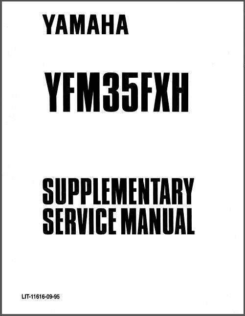 95-04 Yamaha YFM350FX Wolverine 350 ATV Service Repair