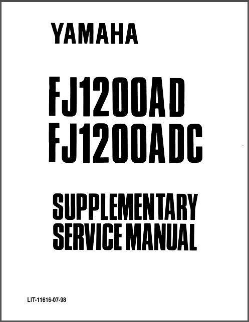 1984-1996 Yamaha FJ1100 FJ1200 Service Repair & Parts