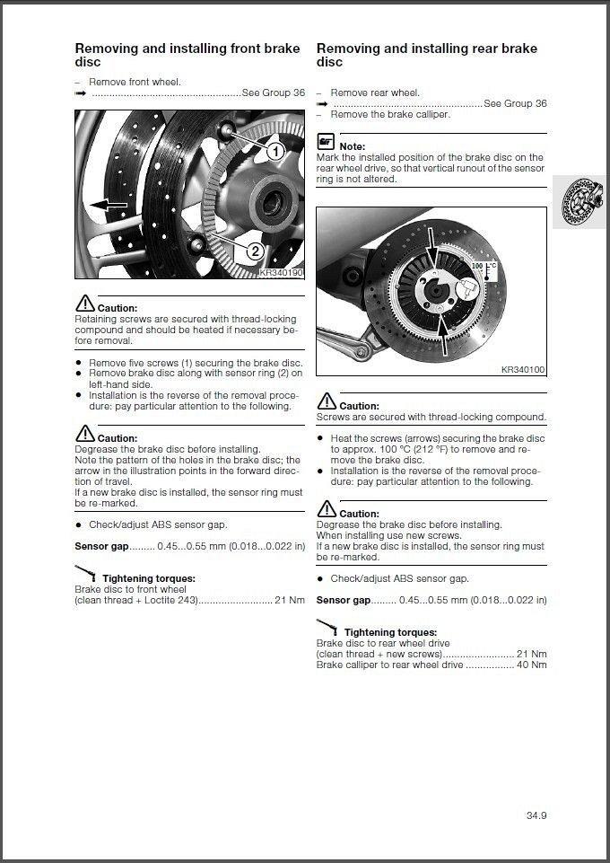 1999-2008 BMW K1200LT Service Manual on a CD For Sale