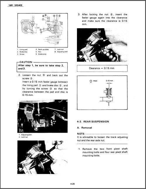 1981-1991 Yamaha SRV 540 Snowmobile Service Repair Manual