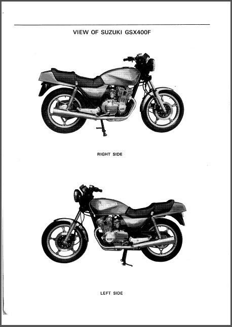 81-82 Suzuki GSX400F Katana Service Repair Workshop Manual