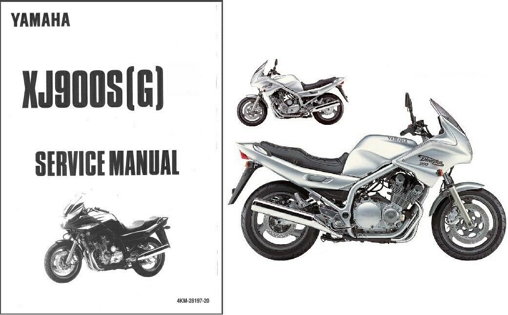 94-04 Yamaha XJ900S Diversion Service Repair Manual CD