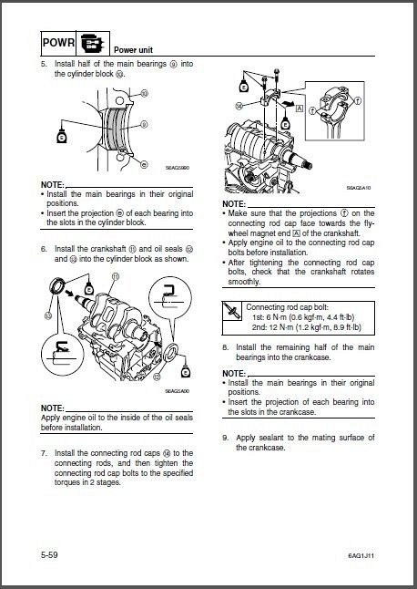 Yamaha F15 F20 4-Stroke Outboard Motors Service Manual on