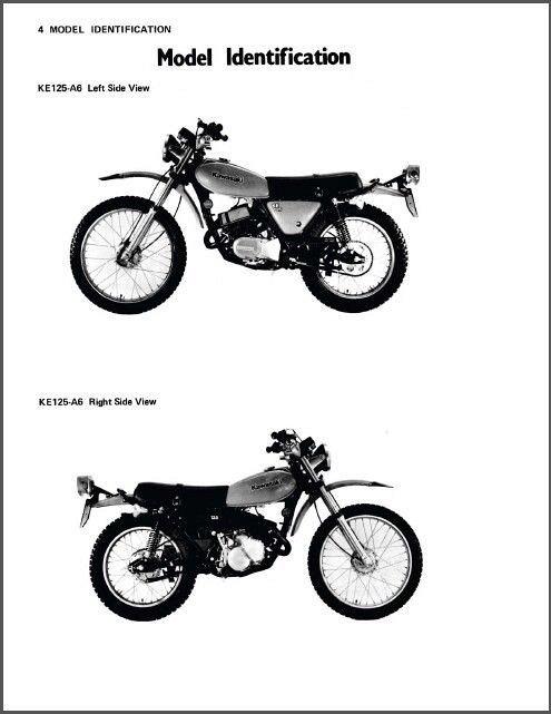74-82 Kawasaki KE125 Service Repair & Parts Manual CD