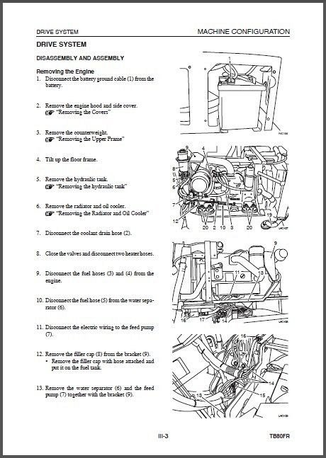 Takeuchi TB80FR Compact Excavator Service Workshop Manual