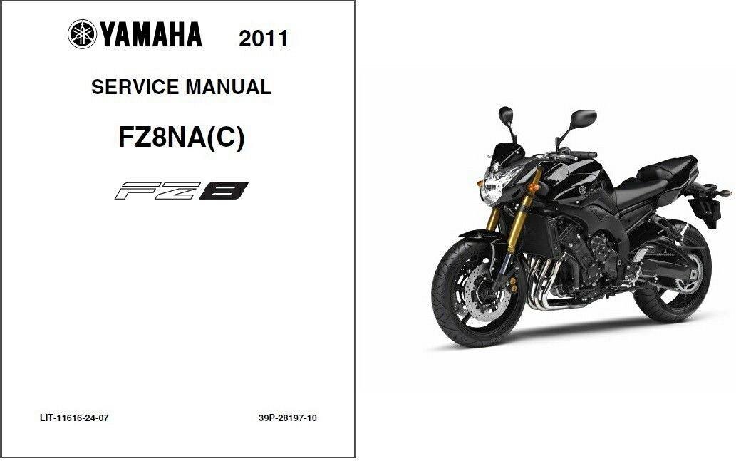2011-2012-2013 Yamaha Fazer 8 ( FZ8 ) Service Manual on a