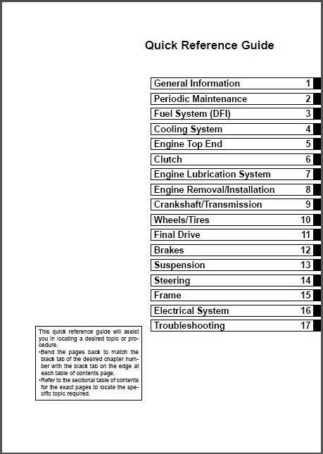 02-06 Kawasaki Ninja ZX-12R Service Repair Manual CD