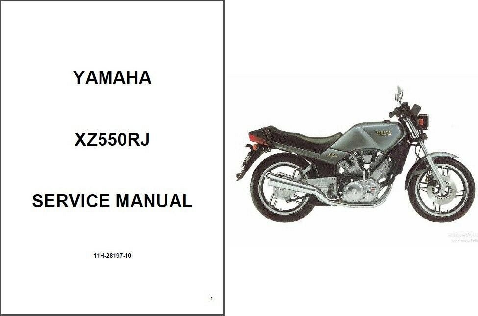 1982-1983 Yamaha XZ550 Vision 550 Service & Parts Manual