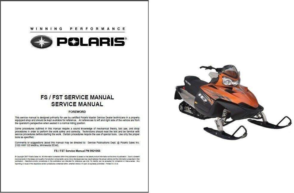 2006-2008 Polaris FS / FST 4-stroke Snowmobiles Service