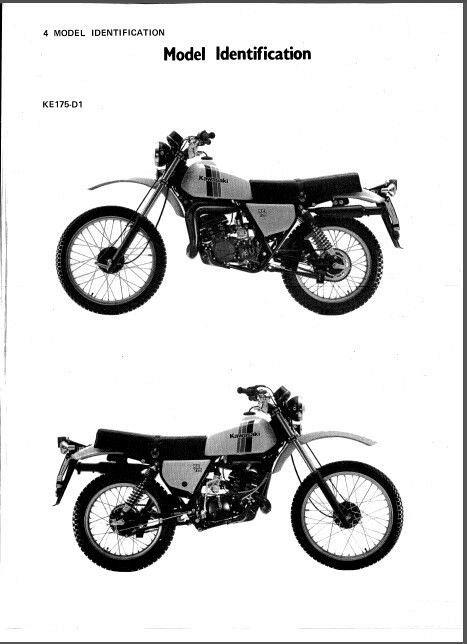 1979-1983 Kawasaki KE175 Service Repair Workshop Manual CD