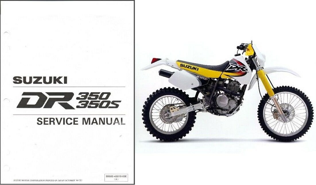 1990-1999 Suzuki DR350 / DR350S Service Manual on a CD