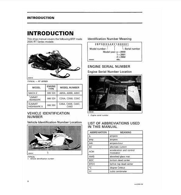 2005 Ski-Doo RT Series ( Mach Z Summit Highmark X