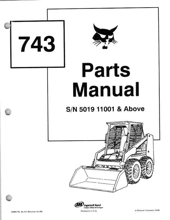 Bobcat 743 Skid Steer Loader Parts Manual on a CD For Sale