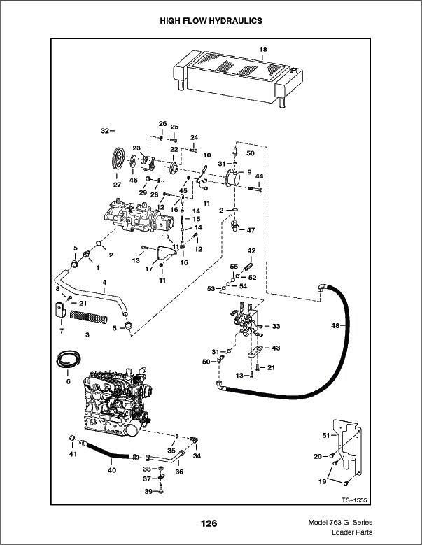 Bobcat 763 G-Series Skid Steer Loader Parts Manual on a CD