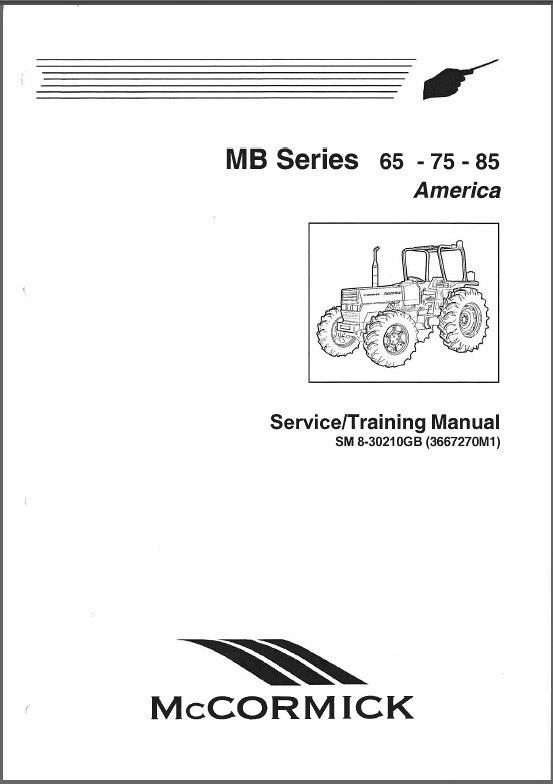 McCormick MB Series ( 65 75 85 ) Tractors Service Manual