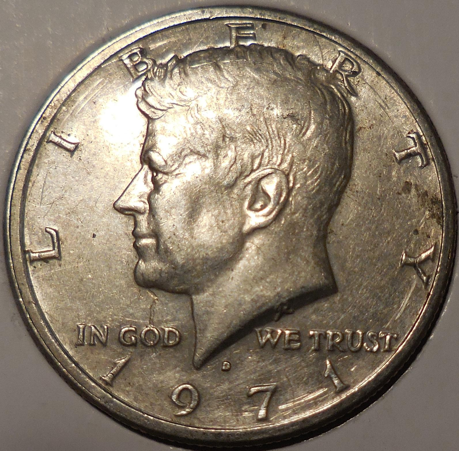 D Kennedy Half Dollar Struck Through Error