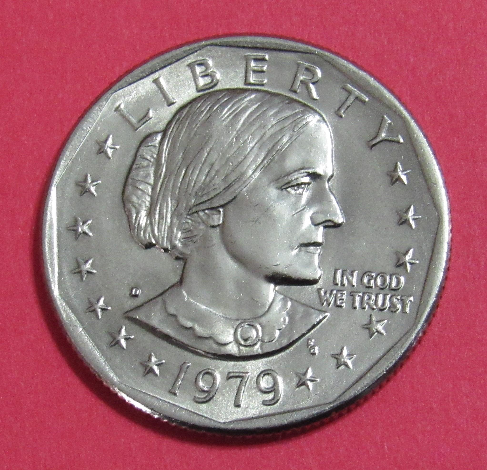 D 1 Susan B Anthony Dollar