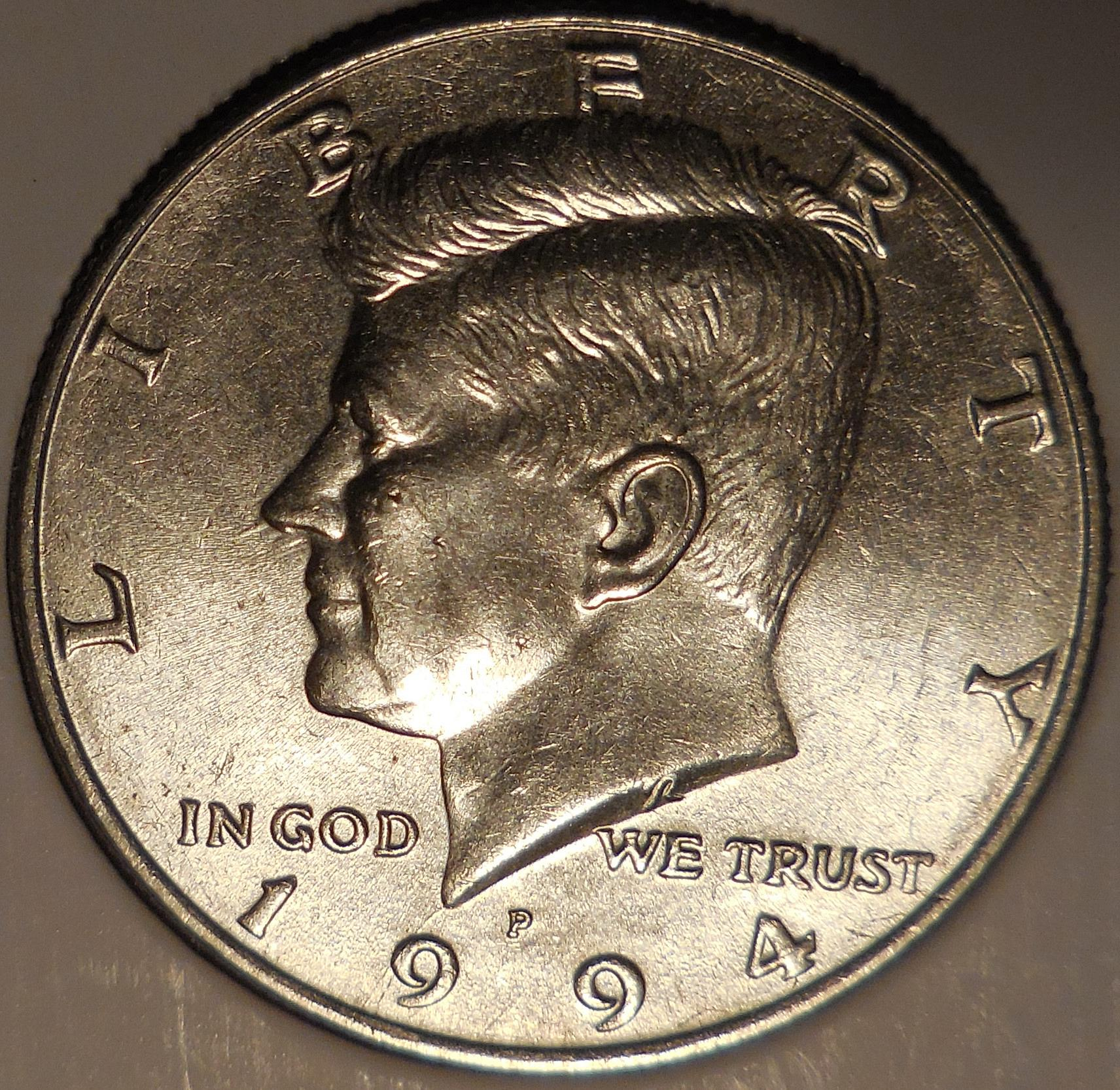 P Kennedy Half Dollar Double Error Coin