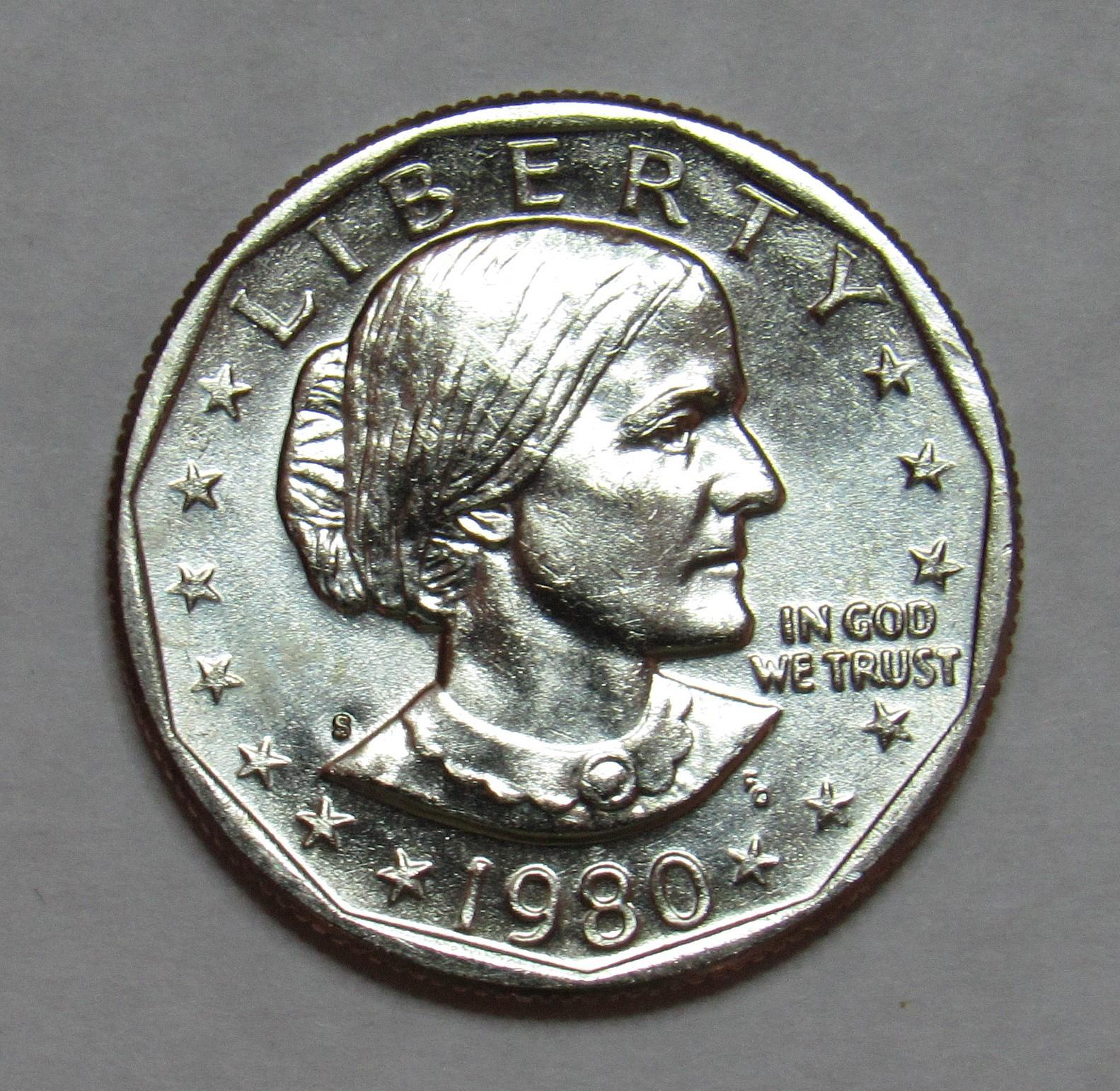 S Susan B Anthony Dollar In Bu Condition