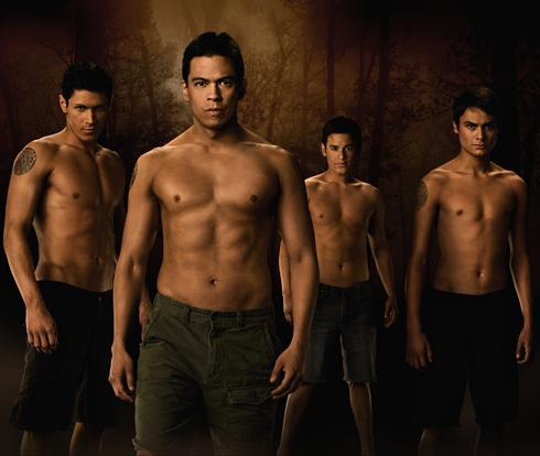 Alex Meraz as Paul, Chaske Spencer as Sam, Bronson Pelletier as Jared, and Kiowa Gordon as Embry