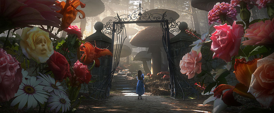 The chatty flowers in Alice in Wonderland take their cue from the talkative trees in The Wizard of Oz.