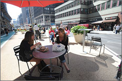 Street Plaza on Broadway, New York