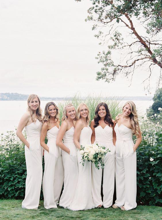 Neutral Bridesmaid Jumpsuits