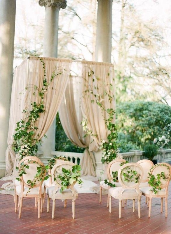 20 Romantic Botanical Wedding Ceremony Backdrops  Weddingomania