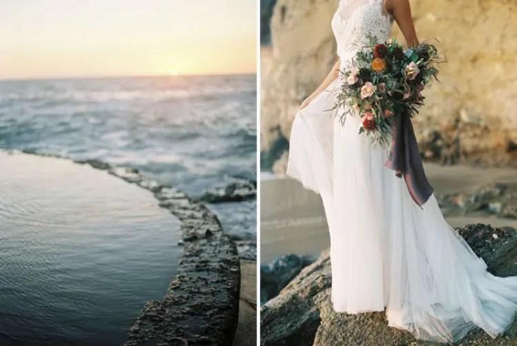 Rose Quartz And Serenity Beachside Wedding Shoot  Weddingomania