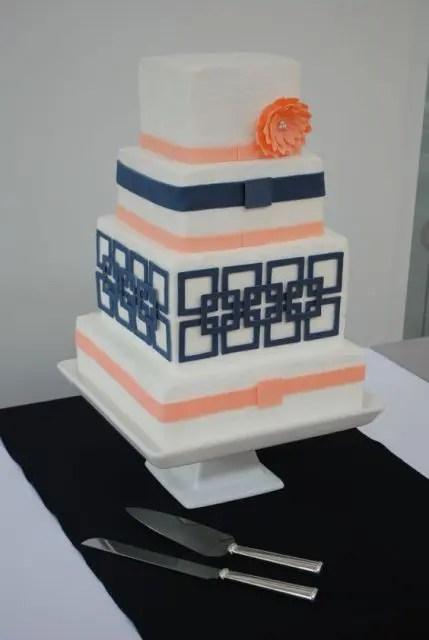 30 Gorgeous Square Wedding Cake Ideas