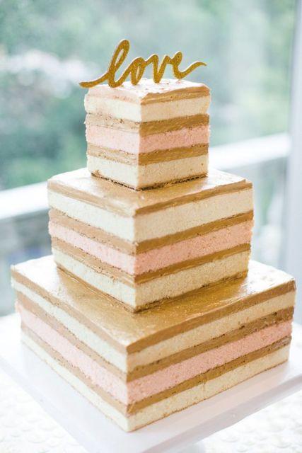 52 Gorgeous Square Wedding Cake Ideas Crazyforus