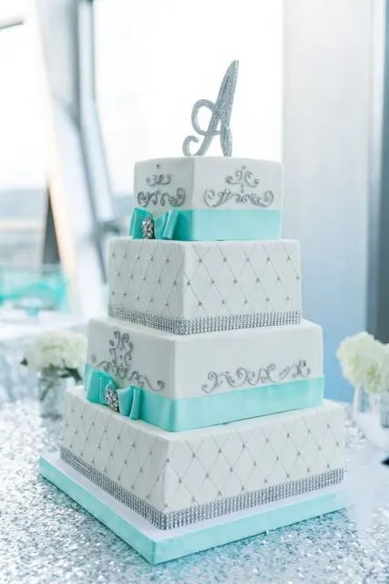 Picture Of Gorgeous Square Wedding Cake Ideas