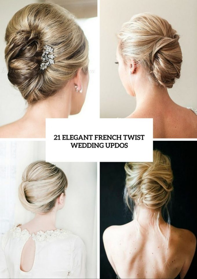 21 elegant french twist updos to get inspired - weddingomania