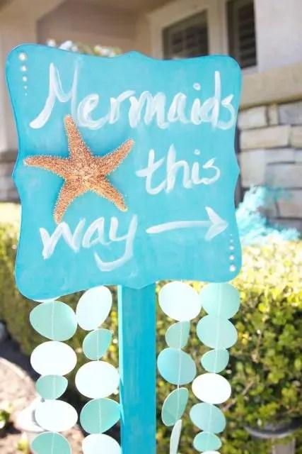 starfish wedding chair decorations white leather and ottoman 24 mermaid bridal shower ideas for fairytale lovers - weddingomania