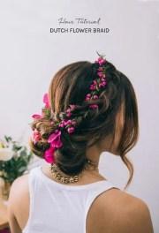 cute diy dutch flower braid