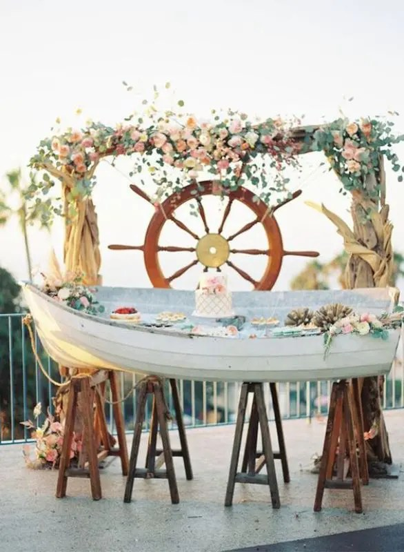 21 Cool Ideas To Use A Canoe At Your Rustic Wedding