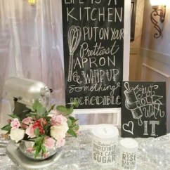 Chalkboard Ideas For Kitchen Rattan Chairs 22 Funny Cooking Themed Bridal Shower - Weddingomania
